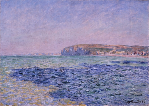 Monet - Shadows on the Sea - The Cliffs at Pourville