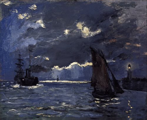 Monet - Shipping by Moonlight