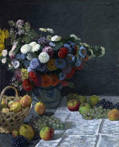 Monet - Still life with flowers and fruit