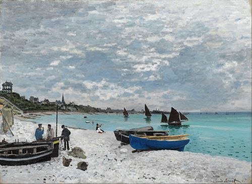 Monet - The Beach at Sainte-Adresse
