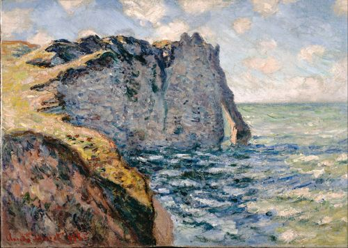 Monet - The Cliff of Aval at Etretat