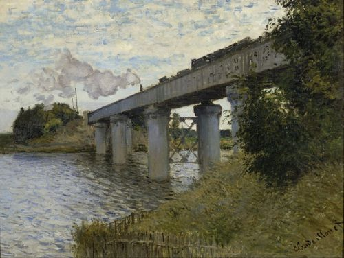 Monet - The Railroad bridge in Argenteuil