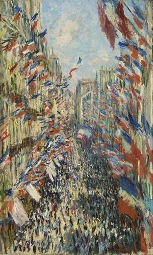 Monet - The Rue Montorgueil in Paris