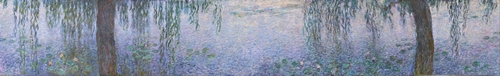 Monet - The Water Lillies - Clear Morning with Willows