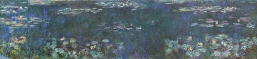Monet - The Water Lillies - Green reflections