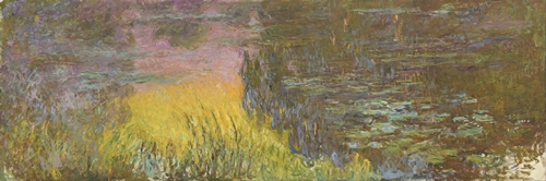Monet - The Water Lillies - Setting sun