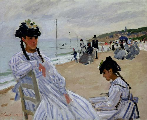 Monet - The beach at Trouville