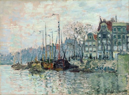 Monet - View of the Kromme Waal in Amsterdam