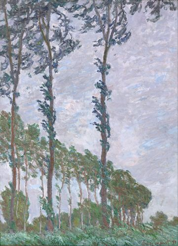 Monet - Wind Effect, Series of The Poplars
