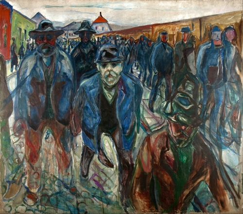 Munch - Workers on their way home