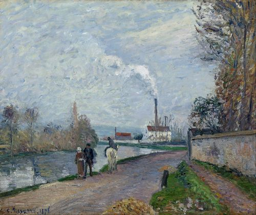 Pissarro - The Oise near Pontoise in Grey Weather