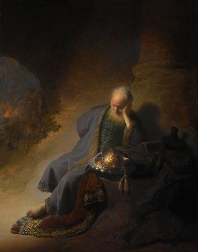 Rembrandt - Jeremiah lamenting the destruction of Jerusalem