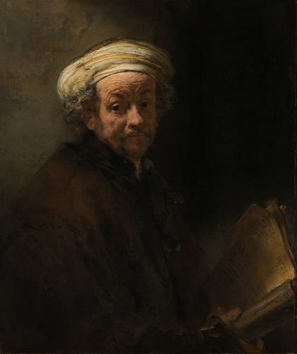 Rembrandt - Self portrait as the apostle Paul