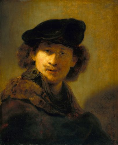 Rembrandt - Self-Portrait with Velvet Beret