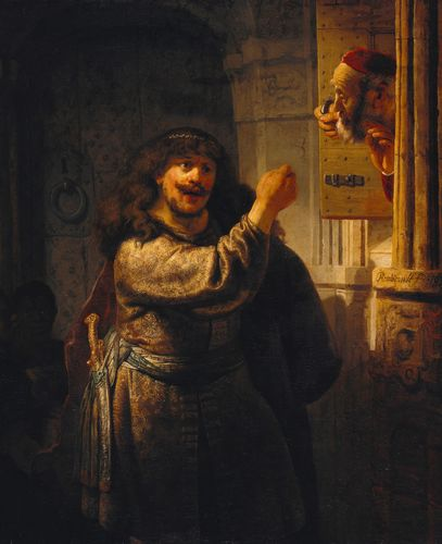 Rembrandt - Simson threatens his father-in-law
