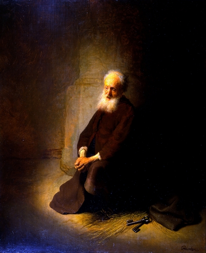 Rembrandt - St. Peter in Prison