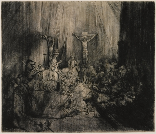 Rembrandt - The three crosses
