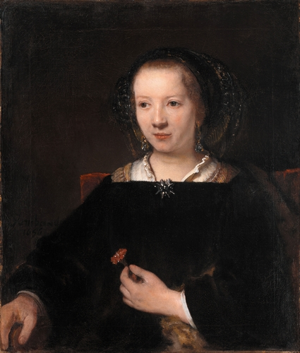Rembrandt - Young woman with a carnation
