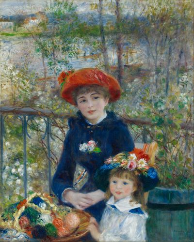 Renoir - Two sisters on the terrace 2