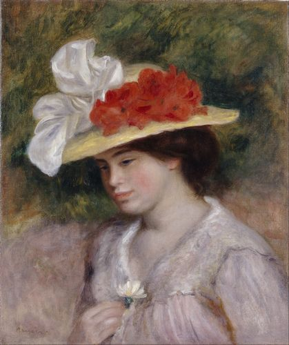 Renoir - Woman in a flowered hat