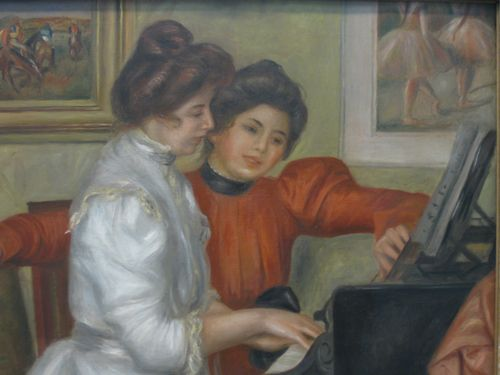 Renoir - Yvonne and Christing LaRolle at the piano