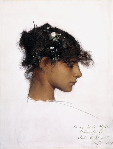 Sargent - Rosina Ferrara, Head of a Capri Girl
