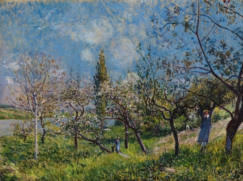 Sisley - Orchard in spring