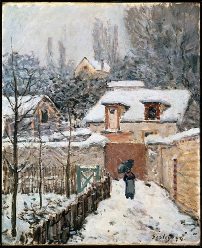 Sisley - Snow at Louveciennes