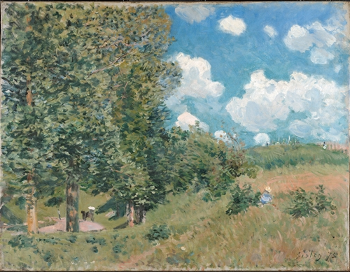 Sisley - The Road from Versailles to Saint-Germain