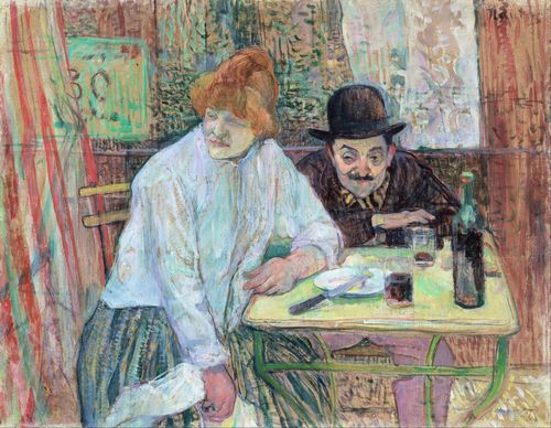 Toulouse-Lautrec - At the Cafe La Mie