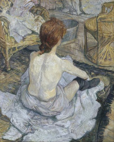 Toulouse-Lautrec - Rousse, at the toilette