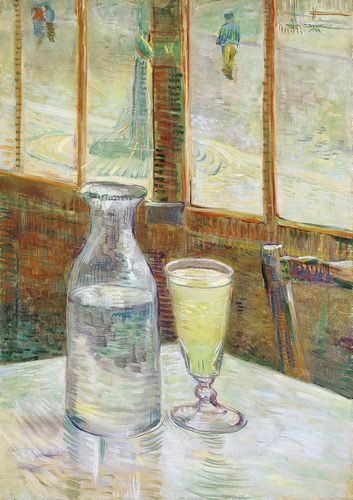 Van Gogh - Cafe table with absinthe