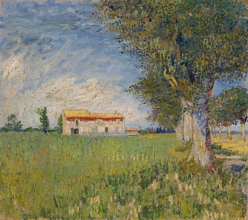 Van Gogh - Farmhouse in a wheat field