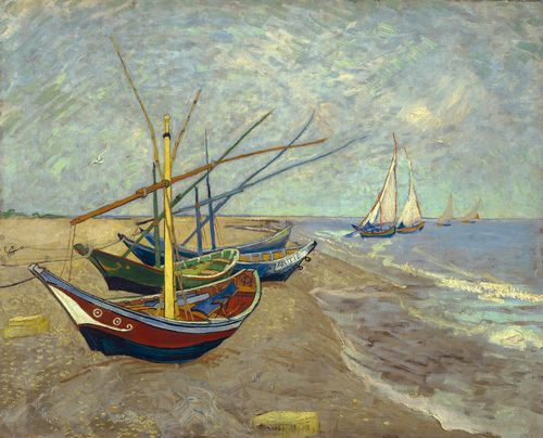 Van Gogh - Fishing boats at Sainte Marie