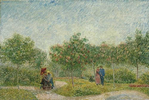 Van Gogh - Garden in Montmarte with lovers