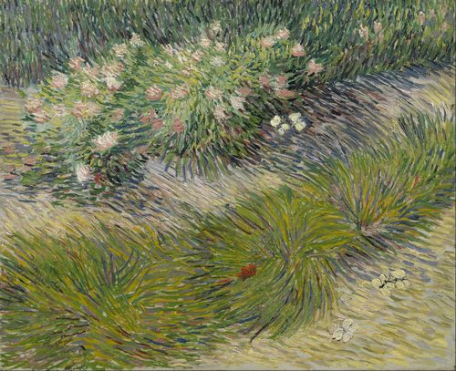 Van Gogh - Grass and butterflies