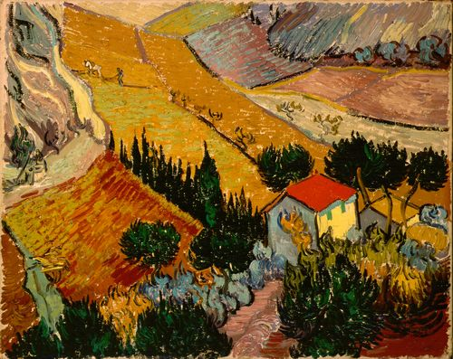 Van Gogh - Landscape with House and Ploughman