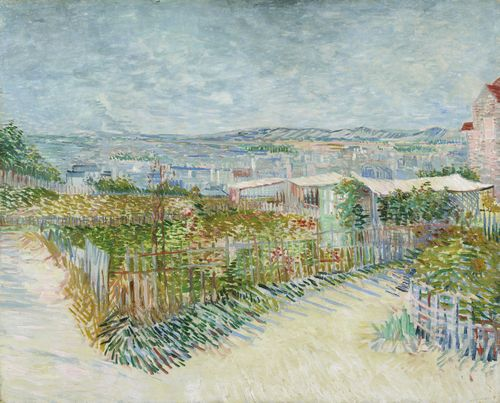 Van Gogh - Montmartre, behind the Moulin de la Galette