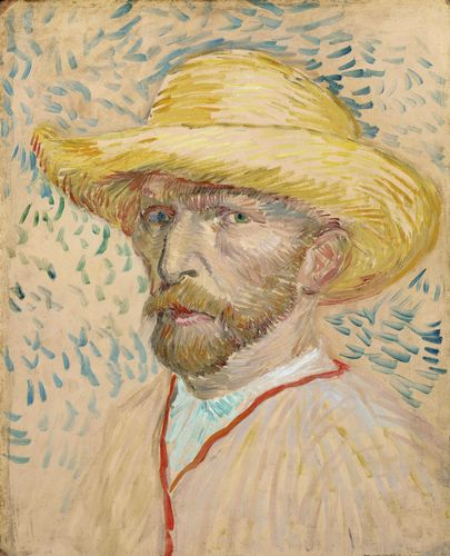 Van Gogh - Self-portrait in pink