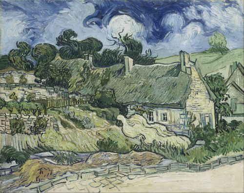 Van Gogh - Thatched Cottages at Cordeville