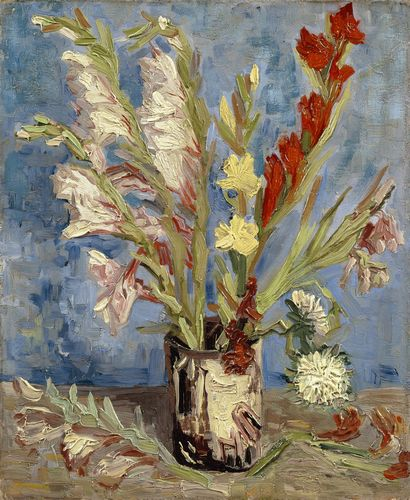 Van Gogh - Vase with gladioli and China asters