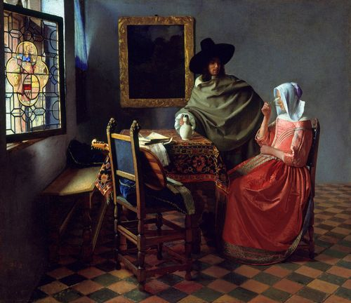 Vermeer - A glass of wine
