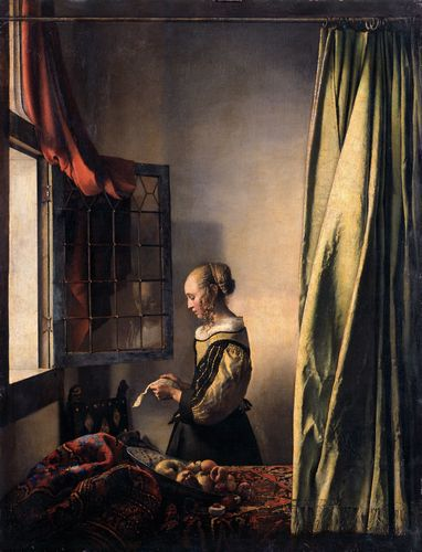 Vermeer - A young woman reading at an open window