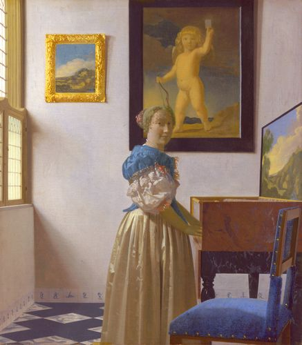 Vermeer - A young woman standing at a virginal