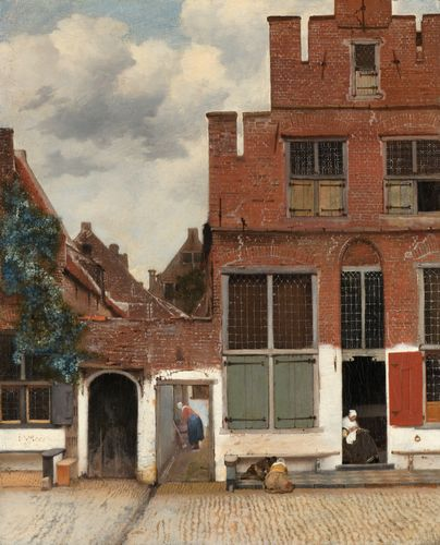 Vermeer - View of Houses in Delft