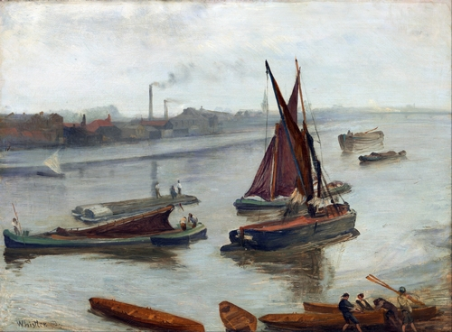 Whistler - Grey and Silver, Old Battersea Reach