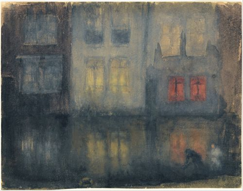 Whistler - Nocturne Black and Red-Back Canal, Holland