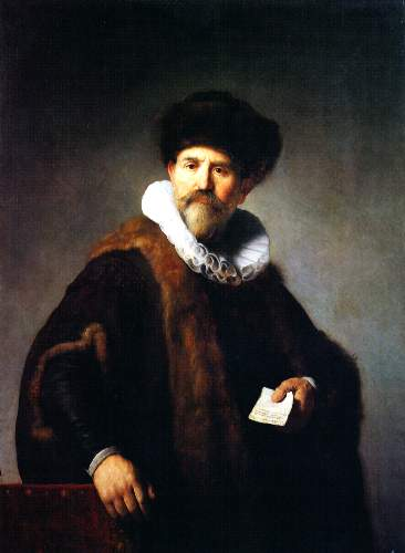A trader from Amsterdam by Rembrandt