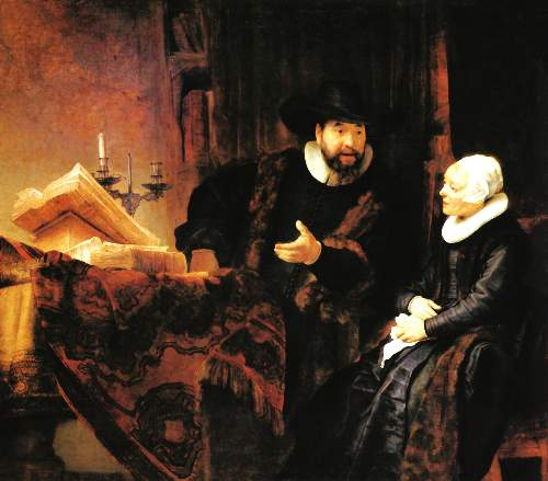 Anslo and wife by Rembrandt