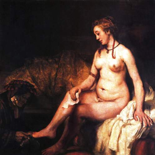 Bathseba with letter from King David by Rembrandt